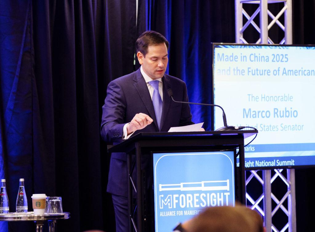 Senator Marco Rubio speaking at 2019 Mforesight conference